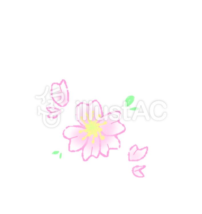 可愛いシンプルな桜イラスト No 1015971無料イラストならイラストac