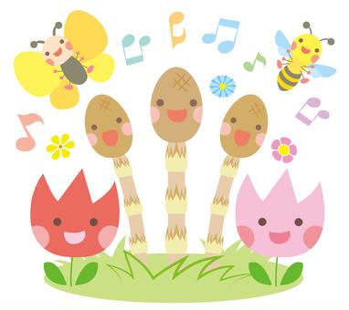 Tsukushi and Spring companion chorus squad