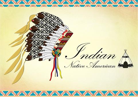 インディアン帽子カラー