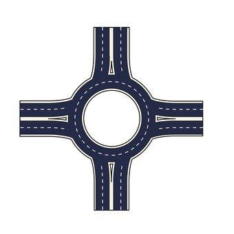 Yen-shaped cross points