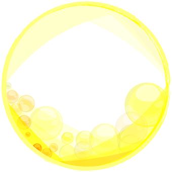 黄色ウェーブ円フレーム