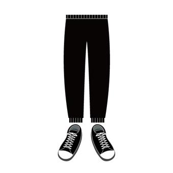 Jogger褲子和運動鞋