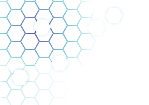 Blue network hexagon abstract background material