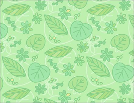 Leaf pattern _ green