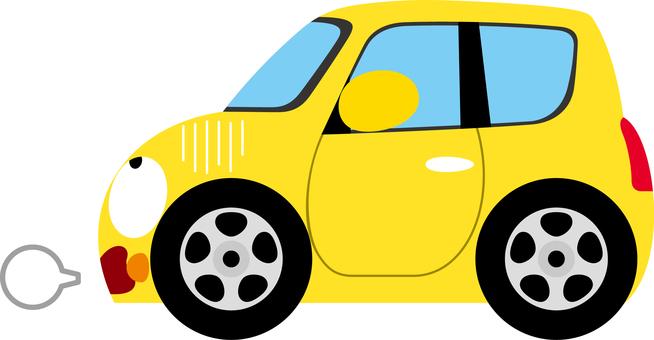 Car compact bumps sideways