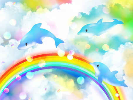 Rainbow and dolphin 2
