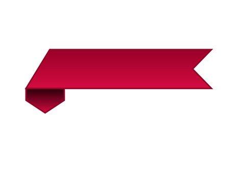 Horizontal ribbon (red)