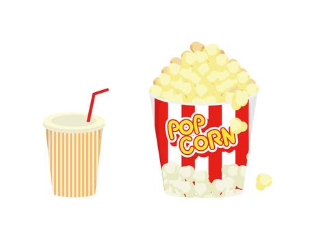 Popcorn and juice
