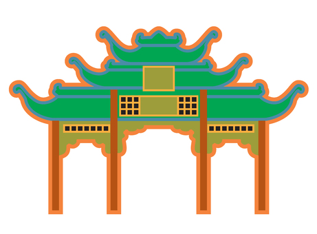 Chinese style gate