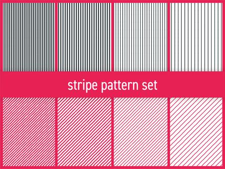 스트라이프 패턴 세트