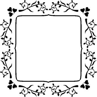 Leaf frame 3 Black and white