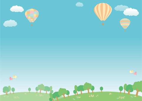 Balloon landscape