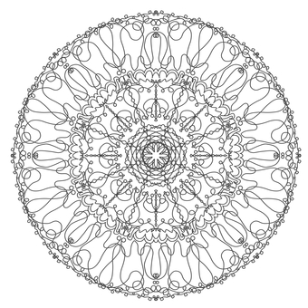 Mandala stained glass style coloring book 01