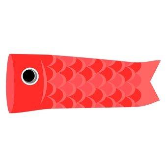 Carp streamer (red)