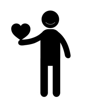 Person with heart