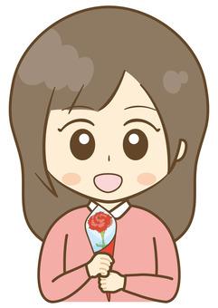 康乃馨的女孩