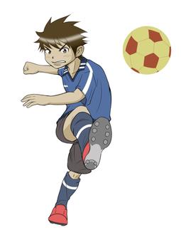 サッカー3(背景なし)