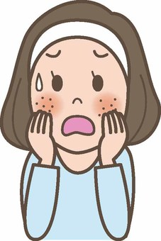 Women suffering from rough skin / acne