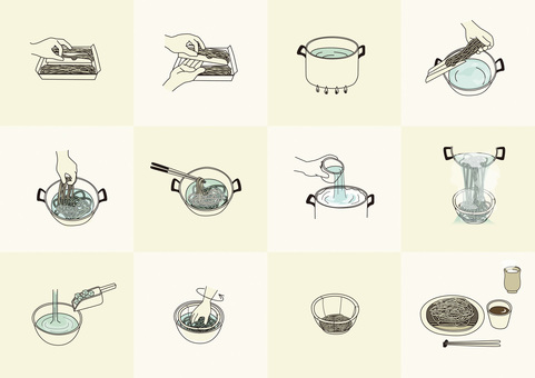 How to boil soba
