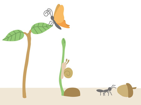 Creatures / Butterfly / Snail / Ant