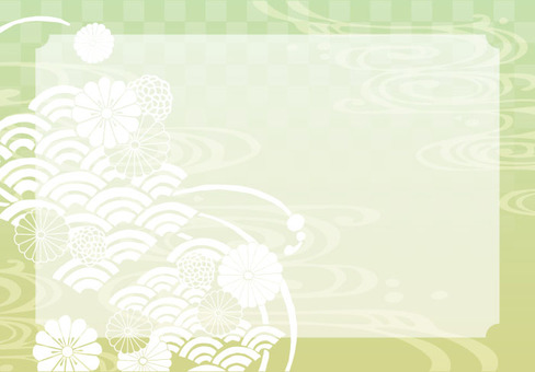 Background (Japanese Pattern 1 · Green Frame included)