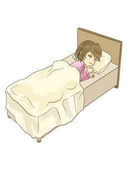 A woman sleeping - 0001