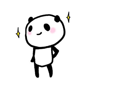 苗條的熊貓