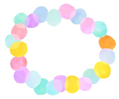 Polka dots frame 6