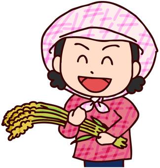 農家の女性