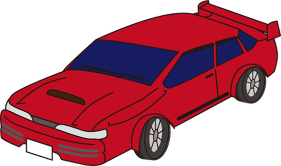 Sports car red