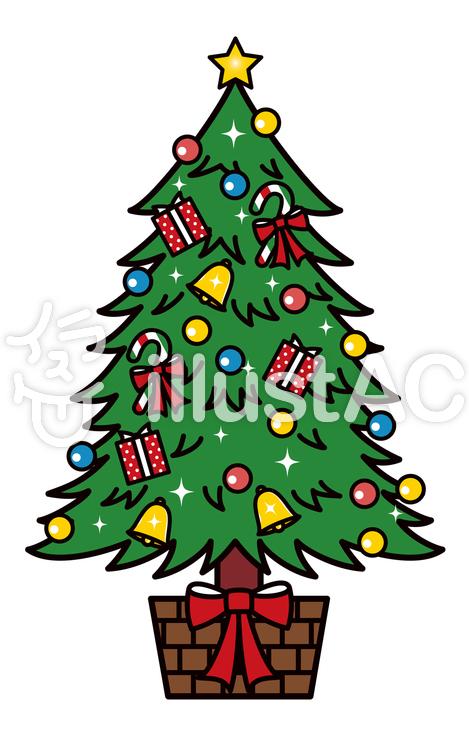 クリスマスツリー もみの木のイラスト