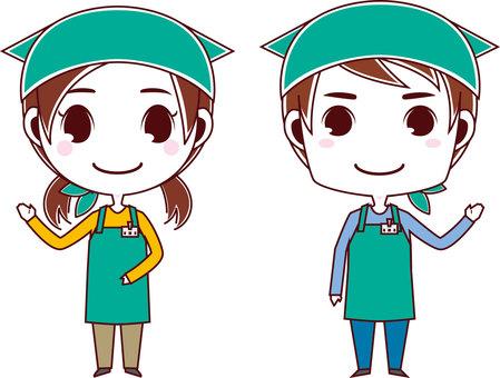 Apron clerk_men and women 02