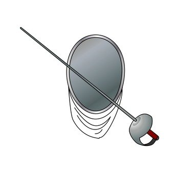Fencing sword and mask