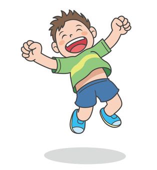Cheerful boy illustration