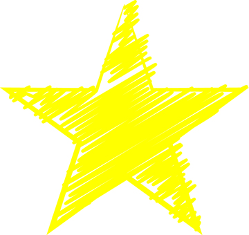 Hand-drawn star (Yellow)
