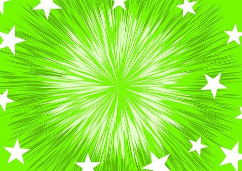緑の放射状 背景素材