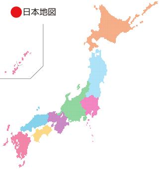 ● 일본지도 _ 지방 나누기