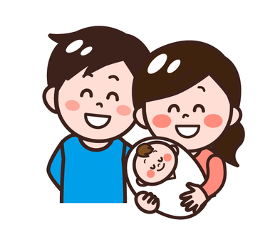 嬰兒和父親母親(父母)