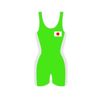 Wrestling wear green
