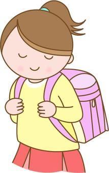 School bags and children