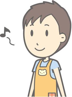 Nursery teacher - walking - bust