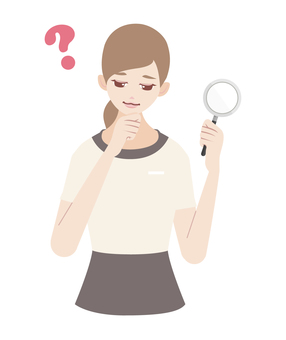 Aesthetician magnifying glass trouble