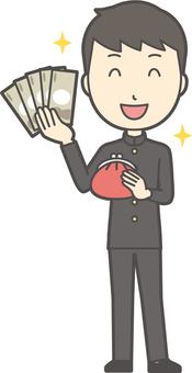 中学生学ラン男性-407-全身