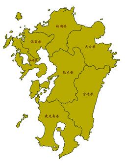 Kyushu area map