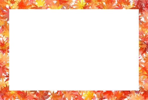 Autumn leaves postcard frame