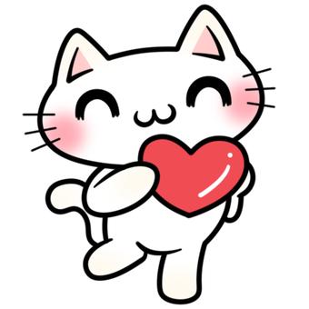 마음을 가진 고양이 양 미소