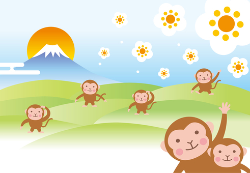 Fuji back monkeys