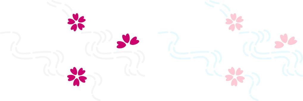 ai · Japanese style Simple Sakura running water 2 sets
