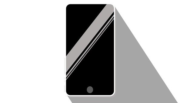 Illustration of a simple smartphone