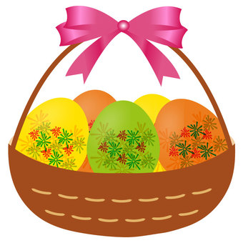 Easter egg with basket